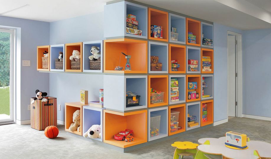 Play room wall storage