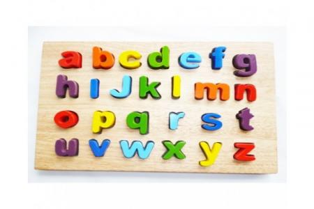 Wooden Lower Case Letter Puzzle