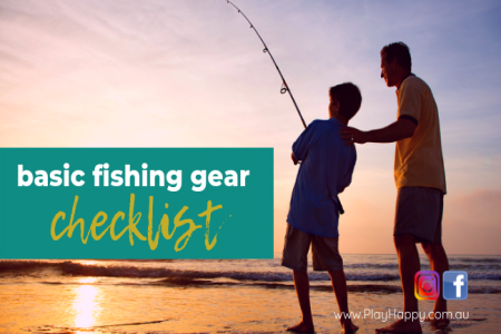 Basic fishing gear for kids checklist